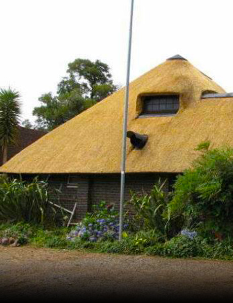 "The basics for the height of a conductor are that the conductor must cover the protected area ""thatch roof"""